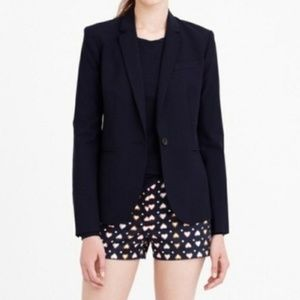 J. Crew Factory Navy Blue Heart Print Shorts